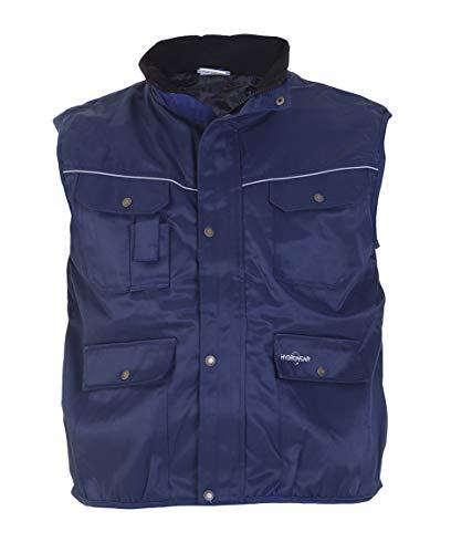 Hydrowear 049467 Delhi Bodywarmer Beaver, 50% polyester/50% coton, petite taille, Bleu marine