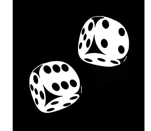 MDGCYDR Pegatinas Coche Graciosas 13,4 * 13 Cm Interesante Pegatinas Coche Graciosas Casino Poker Dados Decoración Vinilo Gráfico