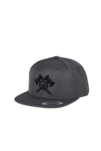 barTbaren Snapback Cap Grau - Grey - Unisex - Axt Logo - Damen und Herren - Snapback Black - Snap Cap Herren - CAPI - Cappi Herren