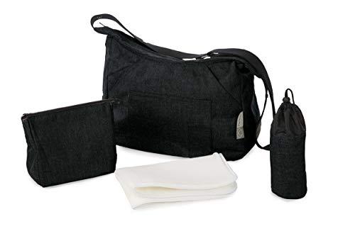 Zeer mooie babyluiertas met accessoires 40 cm zwart