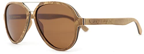 Valtiba Gafas de sol de madera unisex Dubai