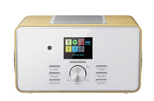 "Grundig DTR 6000 2.1 BT DAB+ WEB ""All-in-one""-Internetradio mit Bluetooth, Multiroom und Empfang Eiche"