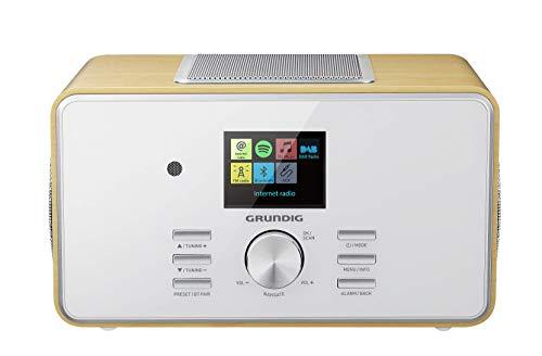 'Grundig DTR 6000 2.1 BT Dab + Web All-In-One De Radio Por Internet Con Bluetooth, Multi Room Y Recepción Roble