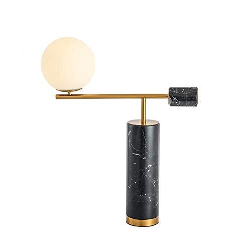 TDJJZHXYP Lámpara de Mesa de mármol Minimalista Moderna lámpara de Mesa de Noche de Dormitorio Modelo Creativo lámpara de Mesa Decorativa esférica de Bola de Cristal