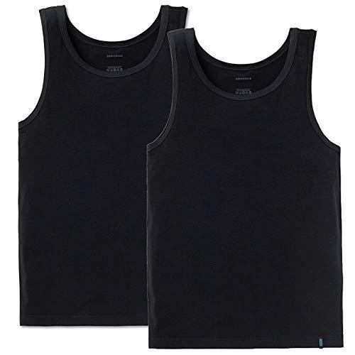 Schiesser Herren Achsel Shirt 95/5 2er Pack, Farbe:Schwarz (000);Größe:5/M