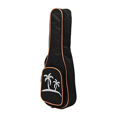 KEPOHK Ukelele transparente de 23 pulgadas Air-nova con bolsa de concierto, púas de cuerda, paño de limpieza, libro de música, bolsa de ukelele