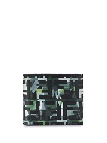 Luxury Fashion | Fendi Heren 7M0169ABM9F0X93 Groen Leer Portemonnees | Lente-zomer 20