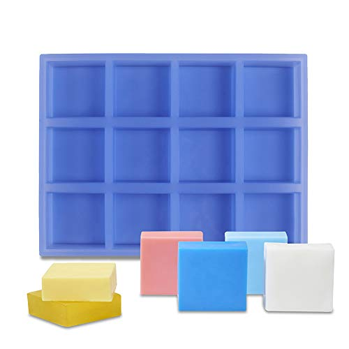Silicone Molds for Soaps 4oz, Square Soap Molds for Soap Making, Flexible...
