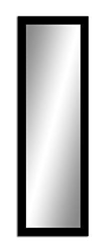Spiegel MIT Rahmen 32 GRÖßEN 160/50, 50/160cm, 11 Farben Rahmen, Handgefertigte, breiter Fester Rahmen, Stabiler Rückwand, Rahmenleiste: 60x20mm, Rahmen Farbe: Schwarz Matt