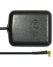 subtel Antena Exterior GPS (MCX) para Garmin iQue/Nüvi/Zumo/StreetPilot, para Tomtom One/Go (Conector ángulo 90 Grados)