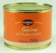 Gésiers de Canard Confits, Entenmagen-Confit aus Frankreich, Entenmägen in Entenfett, 190g