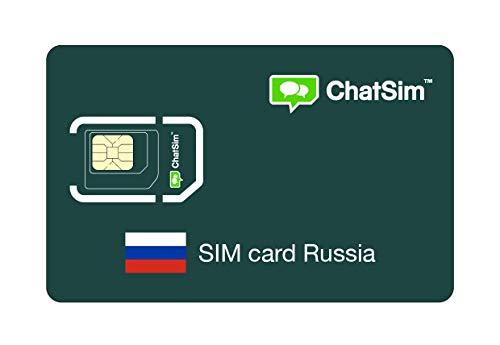 Internationale SIM-Karte für Reisen nach RUSSLAND und rund um den Globus - ChatSim - Empfang in 165 Ländern, Roaming weltweit - Mehrfachanbieternetz GSM/2G/3G/4G, keine Fixkosten. 1GB für 30 Tage