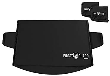 FrostGuard Plus Windshield Snow Cover with Built-in Wiper Cover & 2 Security Panels, Black (Standard): image