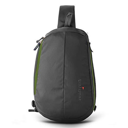 Unigear Sling Rucksack, Sling Bag mit verstellbarem Schultergurt Schulterrucksack Umhängetasche Crossbag Daypack Perfekt für Wandern, Radfahren, Bergsteigen, Reisen