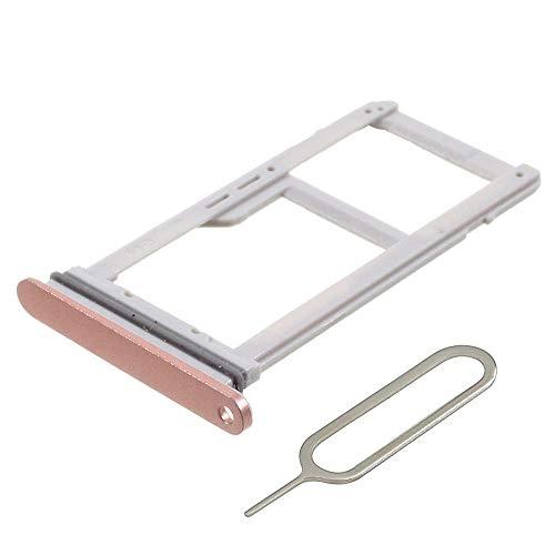 MMOBIEL SIM/SD Karte Schlitten Tray kompatibel mit Samsung Galaxy S7 G930-5.1 Inch (Pink Gold) inkl SIM Pin