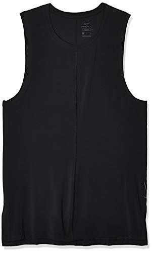 NIKE M Nk Dry Tank Yoga Camiseta sin Mangas, Hombre, Black/(Black), L