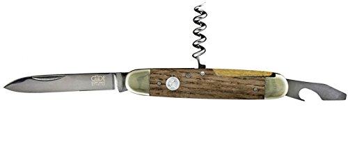 Güde Taschenmesser ALPHA-EICHE Serie Klingenlänge: 7 cm Fasseichenholz, E715/07, Messer - Solingen - Deutsche Qualität,  robust - scharf - geschmiedet - hochwertig