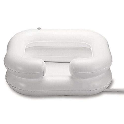 Lavandino Gonfiabile per Capelli Lavabo Gonfiabile per Shampoo in PVC Portatile con Tubo di Scarico Lavare i Capelli a Letto per feriti, Anziani, disabili