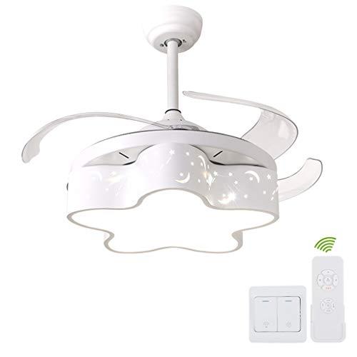 * Kroonluchter kroonluchter, LED-lichtbron kroonluchter, 36 W lens multi-Shift dimming kroonluchter, geschikt voor kinderkamer/woonkamer/slaapkamer/lamp kroonluchter (wit)