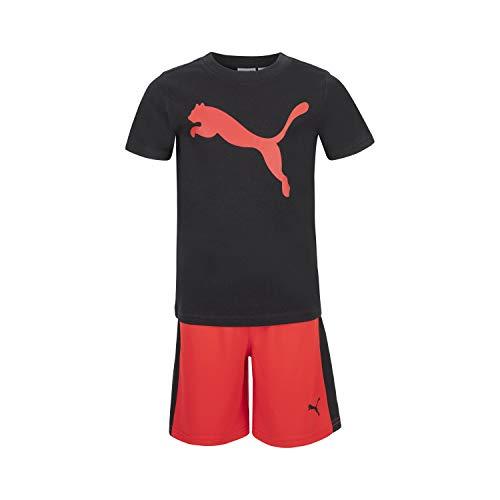 PUMA Performance SS Logo tee & Athletic - Conjunto de Camiseta y...