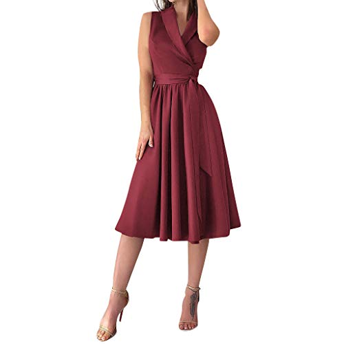 LRWEY Damen Bustier Kleider mit Blüte Drucken Lange Sommerkleid Strandkleider Maxikleider Cocktailkleid Knielang Sommerkleid