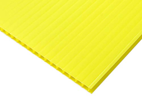 【国産5枚入】プラダンシート 巾900mm ×長1200mm 厚5mm 5枚セット (黄色)