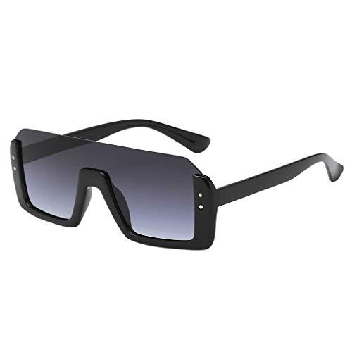 Gafas de sol para Hombre y Mujer Retro Clásico Todo en uno Lentes cuadradas Medio borde Simplicidad y moda UV400 personalizadas Conducción Pesca Deportes al aire libre MMUJERY