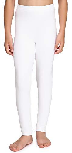 Merry Style Mädchen Lange Leggings aus Baumwolle MS10-225 (Weiß, 128 cm)