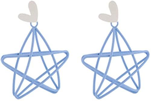 MQJ Simple Star Star Mujeres Clip en Pendientes sin Perforación Brillante Exquisito Versátil Femenino Ear Clips Joyería de Moda