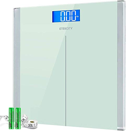 Etekcity High Precision Digital Body Weight Bathroom Scales Weighing Scale with Step-On Technology, 28st/180kg/400lb, Backlight Display, Slim Design (white)