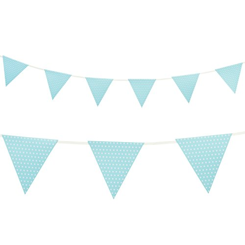 Creative Conversion 220821 Paper Flag Banner - Bleu clair