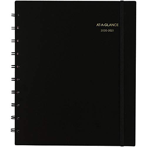 Blue Sky 2020-2021 9 x 11 Academic Appointment Book, Move-A-Page, Black 70957E0521