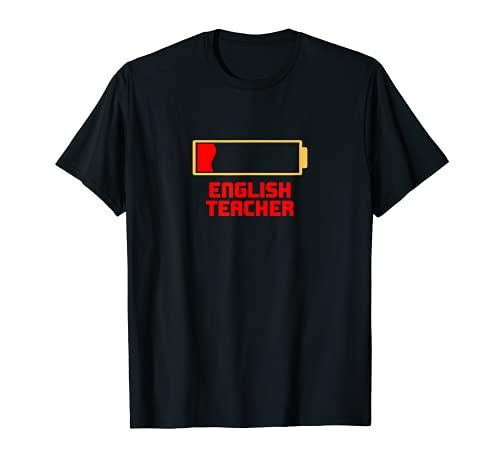 Instructor de idioma de cooperador de inglés de batería baja Camiseta