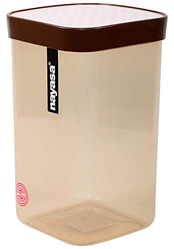 Nayasa Plastic Fusion Containers - 1000 ml, 3 Pieces, Brown