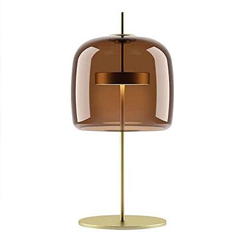 Lámpara de Cabecera Lámparas de mesa de vidrio creativo nórdico moderno Diseñador de mesa de mesa de dormitorio simple Desempájaros de mesa Decoración para sala de estar Barato de café Lámparas de mes