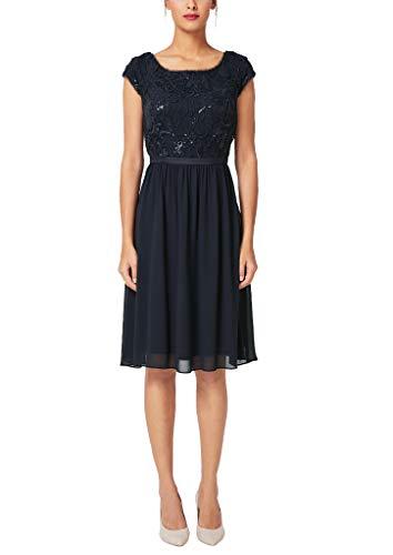 s.Oliver BLACK LABEL Damen 70.910.82.7052 Partykleid, Blau (True Blue 5959), (Herstellergröße: 36)