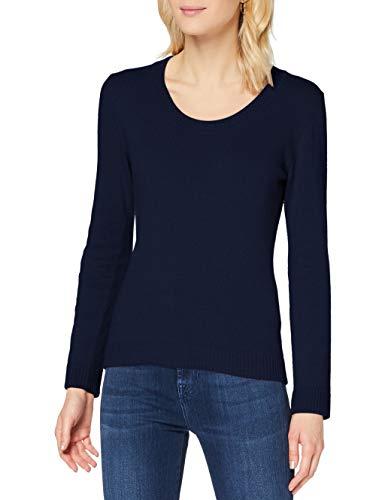 Sisley Sweater L/s Maglione, Blue 73c, XS Donna
