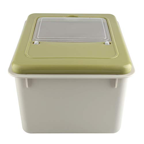 Contenedor de comida de material duradero para almacenamiento de arroz para el hogar para interiores(Matcha)
