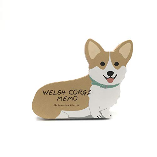 Welsh Corgi Dog Die-cut Memo Pad 4.75'x4' 90 Sheets