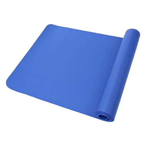 Odea - Esterilla antideslizante para yoga o pilates (10 mm), Unisex adulto, azul