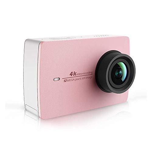 """YI Action Cam 4k/30fps WiFi Videocamera Fotocamera Bluetooth Comando Vocale,Dual Microfono,Touchscreen LCD da 2.2"""" Integrato con Tecnologia Stabilizzatore EIS Action Camera Edizione Limitata Oro Rosa"""