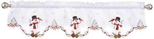 LORRAINE HOME FASHIONS Snowmen, Window Curtain Valance, 58' x 12', Multi