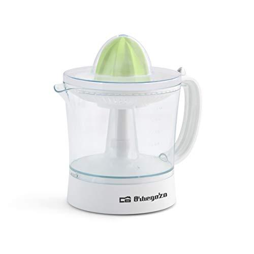 Orbegozo EP 2210 - Exprimidor zumo eléctrico de naranjas, depósito extraible de 1 litro de capacidad, regulador de pulpa, 2 conos para piezas de distinto tamaño, rotación bidireccional