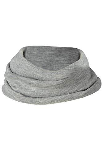 Scaldacollo bambino in lana seta -col. grigio chiaro