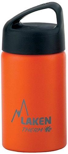 Oferta de Laken Classic Botella Térmica Acero Inoxidable 18/8, Aislamiento de Vacío con Doble Pared y Boca Ancha, Naranja, 500 ml