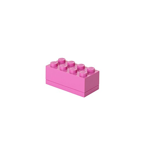Lego 4012 - Caja de almacenaje, diseño de pieza de Lego, color rosa
