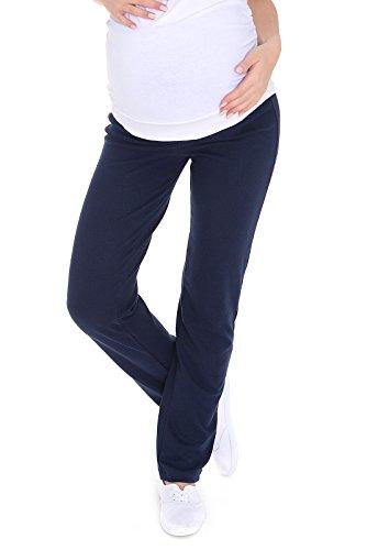 MijaCulture Schwangerschaftshose/Yogahose mit extra Bauch-Panel/Umstandsmode 3010 (XXL, Navy)