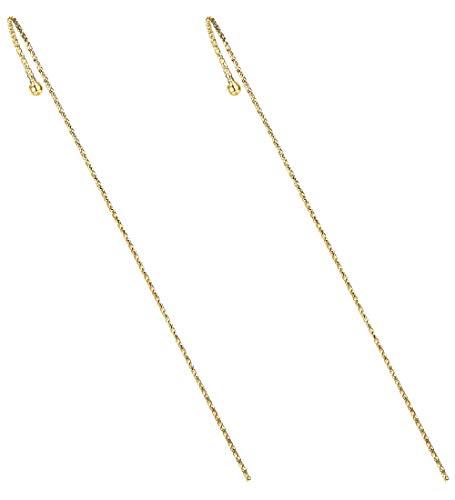 Milacolato Chapado en Oro de 14K Pendientes de Gancho con Forma de Oreja Piercing Pendientes Únicos Pendientes Ear Cuffs Pendientes de Diamantes de Imitación para Mujeres Niñas