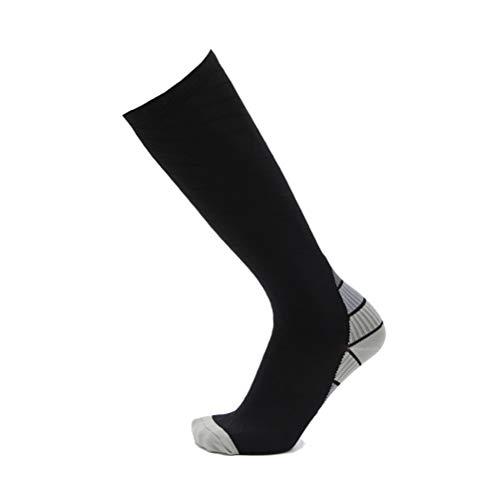 HONEY WYJ Socken Gradient Laufkompressionssocken atmungsaktiv Langstreckenlauf Radfahren Strümpfe Männer und Frauen-Marathon Laufsocken Leggings Kompressionssocken (Color : Gray, Size : M)