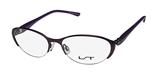 LT Lightec By Morel 7037l Designer-Brille/Brille mit halblangem Rand, flexible Scharniere, edelstahl